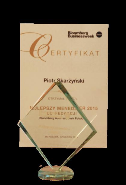 Dr hab. n. med. mgrzarz. Piotr H. Skarżyński wśród 20 Top Menadżerów 2015
