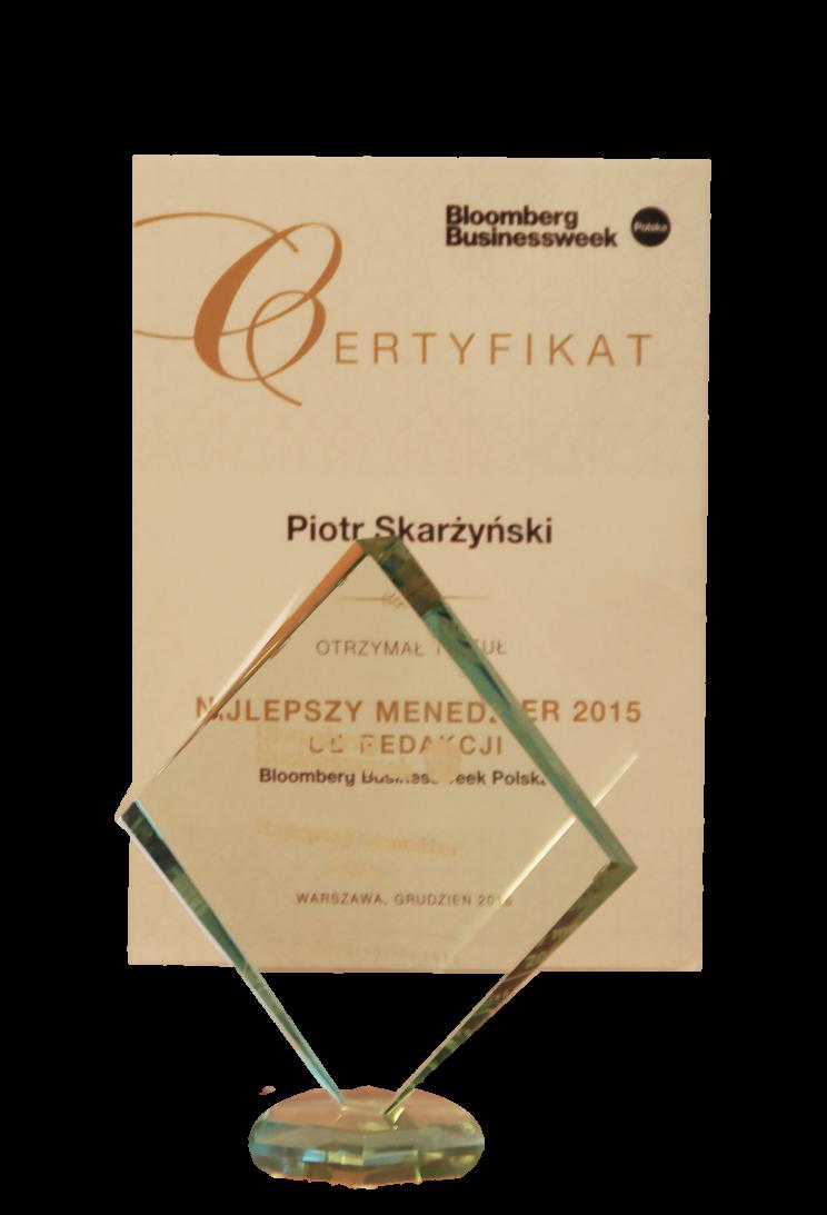 Dr hab. n. med. mgr zarz. Piotr H. Skarżyński wśród 20 Top Menadżerów 2015