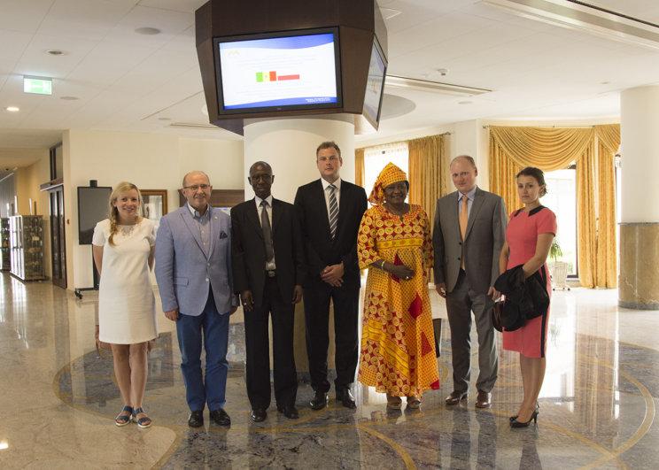 delegacja z Senegalu w CSIM Kajetany Piotr Skarżyński