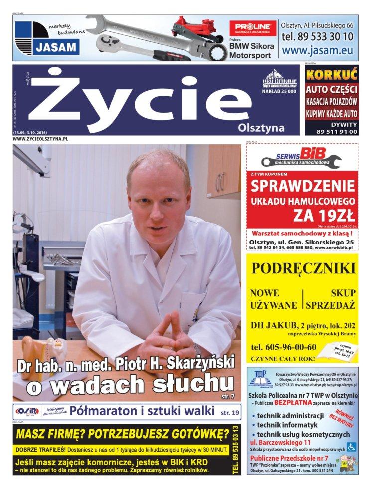 """Dr hab. n. med. Piotr H. Skarżyński udzielił wywiadu dla miesięcznika """"Życie Olsztyna"""""""
