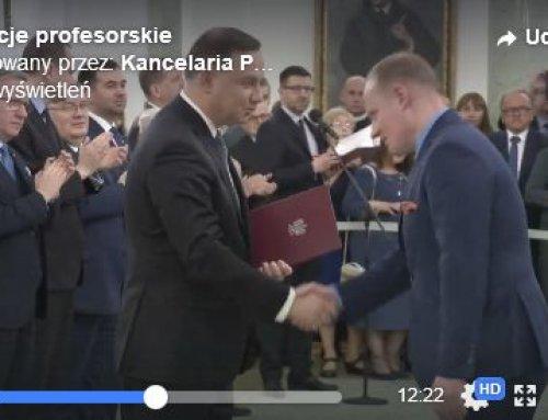 Prof.Piotr H. Skarżyński odebrał nominację profesorską zrąk Prezydenta RP