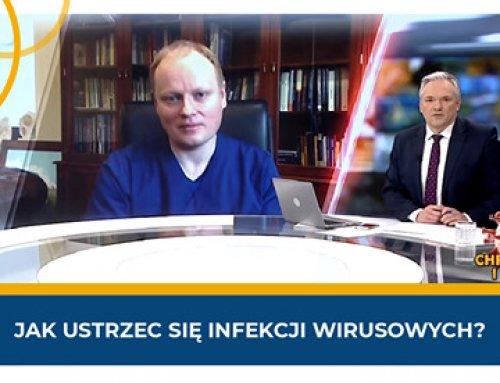 Wywiad zprof.Piotrem H. Skarżyńskim wTVP Info natemat zmniejszenia ryzyka zarażenia koronawirusem
