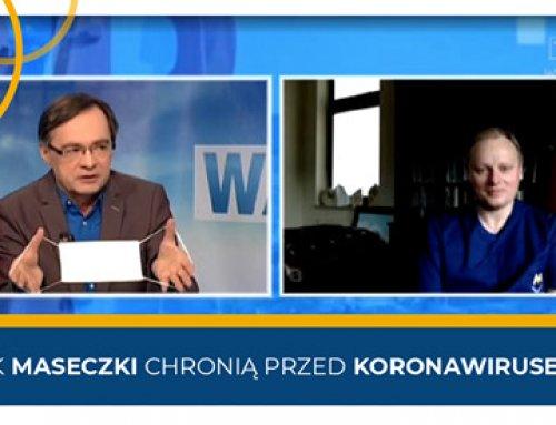 Prof.Piotr H. Skarżyński opowiada napytania dotyczące noszenia maseczek