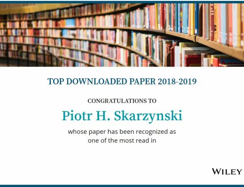Prof. Piotr H. Skarzynski awarded by Wiley Online Library