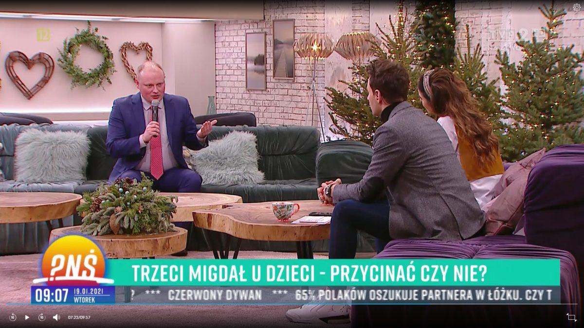 """Prof.Piotr H. Skarżyński otrzecim migdale udzieci w""""Pytaniu naśniadanie"""""""